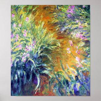 The Path Through the Irises by Monet Print