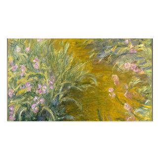 The Path through the Irises - Claude Monet Business Card Template