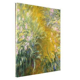 The Path through the Irises - Claude Monet Canvas Print