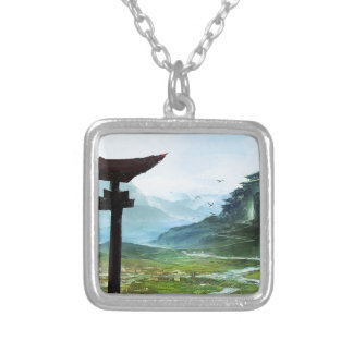 The Path To Enlightenment Silver Plated Necklace