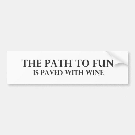 The Path to Fun 6 Bumper Sticker