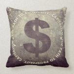The Path To Prosperity Throw Pillows
