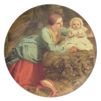 The Path Where The Brown Leaves Are Spread, 1862 ( Dinner Plate