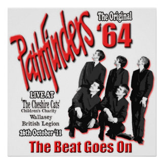 The Pathfinders Original Merseybeat Group Poster