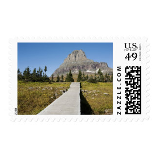 The pathway to the view of Hidden Lake Postage Stamp