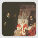 The Patient and the Doctor, 1660s Square Stickers