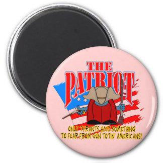 The Patriot  Gun Totin 2 Inch Round Magnet