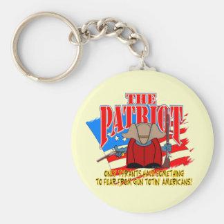 The Patriot  Gun Totin Basic Round Button Keychain