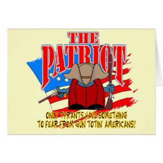 The Patriot  Gun Totin Card