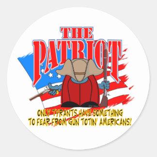 The Patriot  Gun Totin Classic Round Sticker