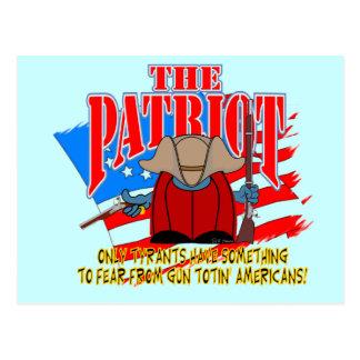The Patriot  Gun Totin Postcard