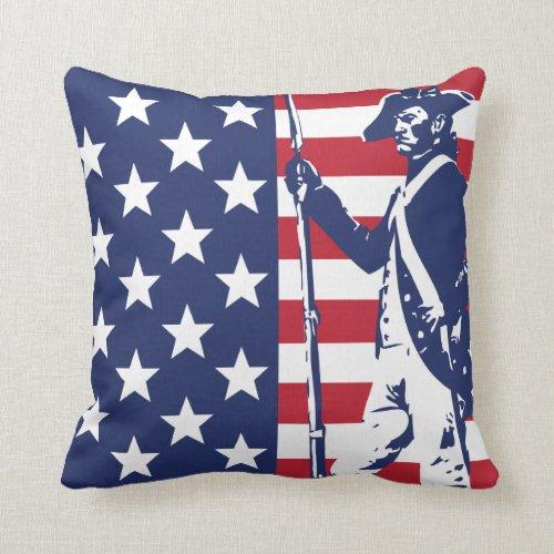 The Patriot Throw Pillow