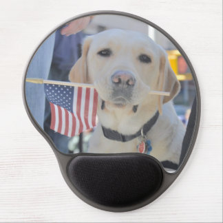 The Patriotic Dog Gel Mouse Pads