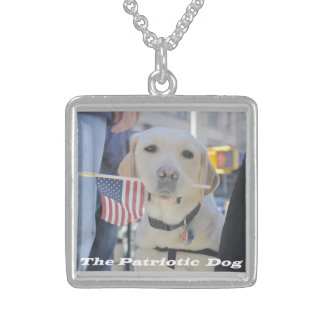 The Patriotic Dog Sterling Silver Necklace