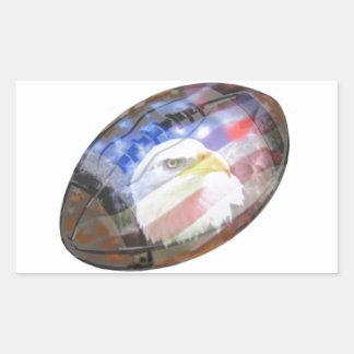 The Patriotic Football. Rectangular Sticker