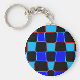 The Pattern Basic Round Button Keychain