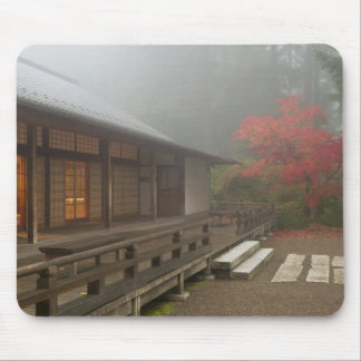 The pavilion at the Portland Japanese Garden Mouse Pad