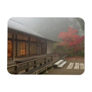 The pavilion at the Portland Japanese Garden Rectangular Photo Magnet