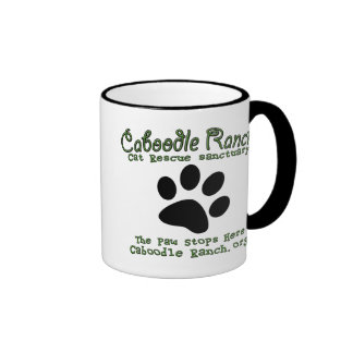 'The Paw Stops Here' Ringer Coffee Mug