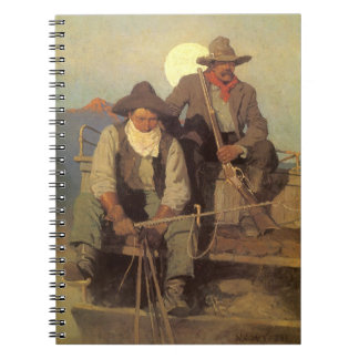 The Pay Stage by NC Wyeth Vintage Cowboys Notebook