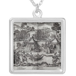 The Peace Made on L'Isle aux Boeufs Silver Plated Necklace