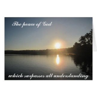 The Peace of God that surpasses all understanding Card