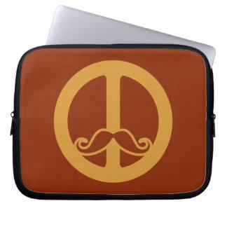 The Peace Stache custom laptop sleeve