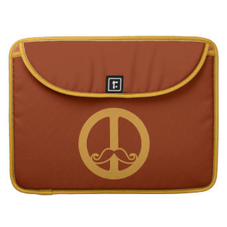 The Peace Stache custom MacBook sleeve MacBook Pro Sleeve