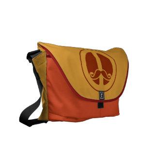 The Peace Stache custom messenger bag