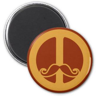 The Peace Stache magnet