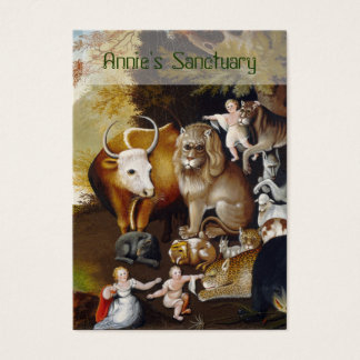 The Peaceable Kingdom - Animal Sanctuary/Rescue Business Card