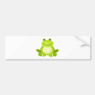 The Peaceful Frog Car Bumper Sticker