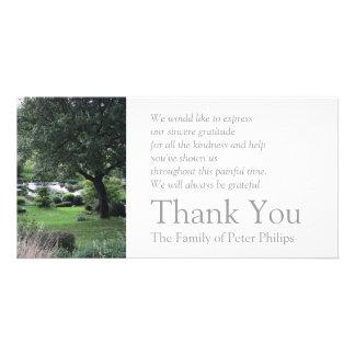 The peaceful Garden 6 - Sympathy Thank You -2- Photo Card