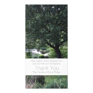 The peaceful Garden 6 - Sympathy Thank You -3- Photo Card