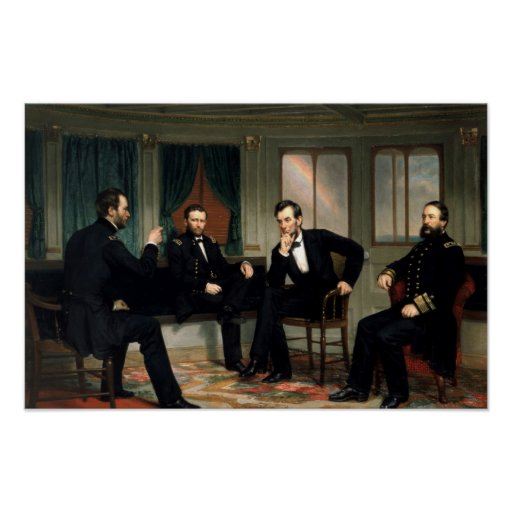 The Peacemakers Abe Lincoln Historical Print