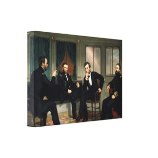 The Peacemakers Abraham Lincoln Wrapped Canvas Canvas Print