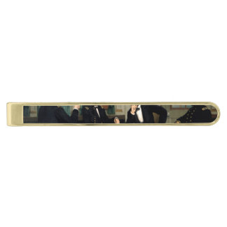 The Peacemakers Gold Finish Tie Clip