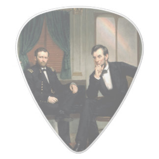 The Peacemakers White Delrin Guitar Pick