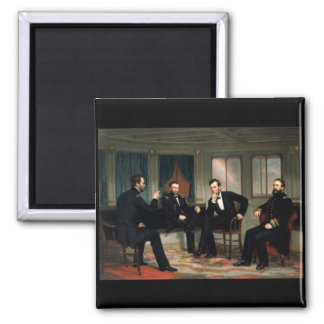 The Peacemakers with Abraham Lincoln 2 Inch Square Magnet