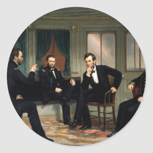 The Peacemakers with Abraham Lincoln Classic Round Sticker