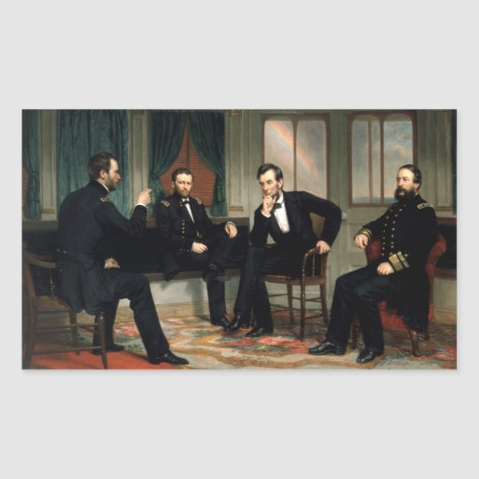 The Peacemakers with Abraham Lincoln Rectangular Sticker
