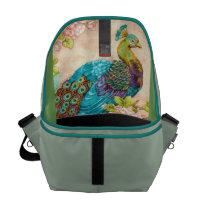 THE PEACOCK AROUND TOWN SHOULDER BAG