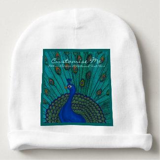 The Peacock Baby Beanie
