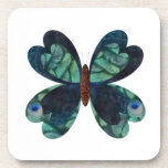 The Peacock Butterfly Beverage Coasters