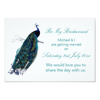 The Peacock Collection Be My Bridesmaid Card