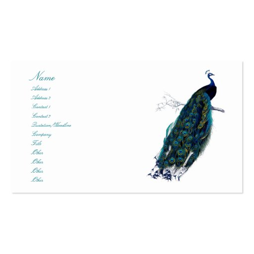 The Peacock Collection Business Card Template