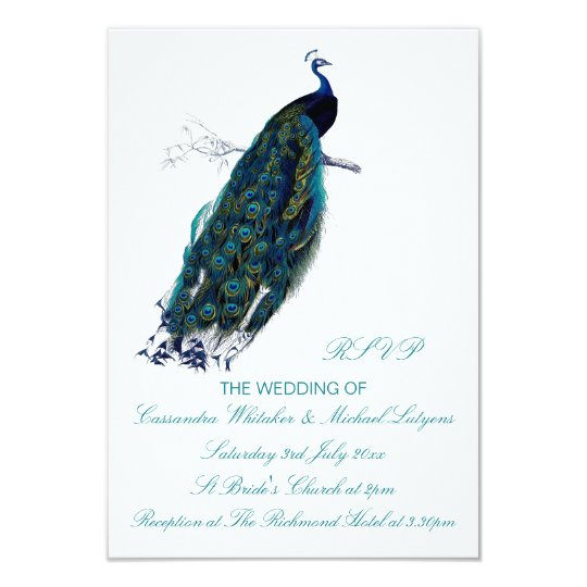The Peacock Collection RSVP Card
