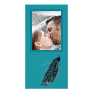 The Peacock Collection Wedding Photo Card
