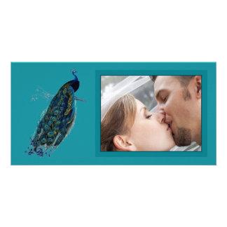 The Peacock Collection Wedding Photo Card