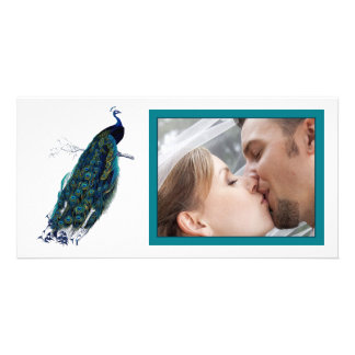 The Peacock Collection Wedding Photo Picture Card